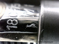 M800 nib with control stamp