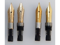 Plug-in nib unit besides screw in nib units (gold and steel)