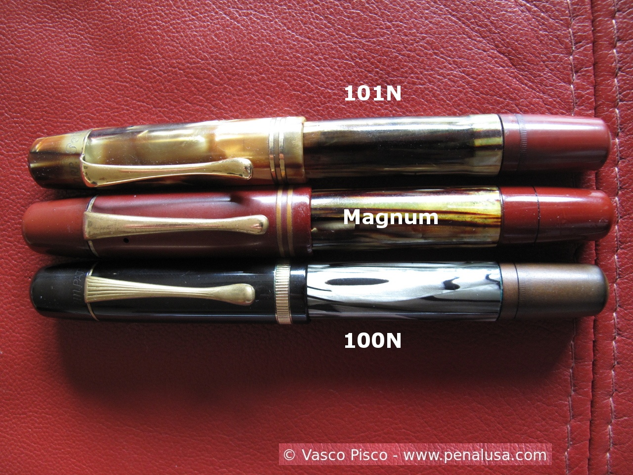 Pelikan 101N, Magnum and 100N comparison