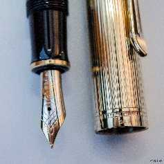 Pelikan M650 Green-striped/Vermeil